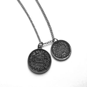 Victorian inspired coin necklace